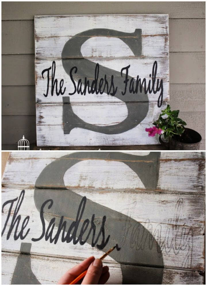 creative a monogram, pallet family name sign, sign boards, how to crafts, do it yourself,