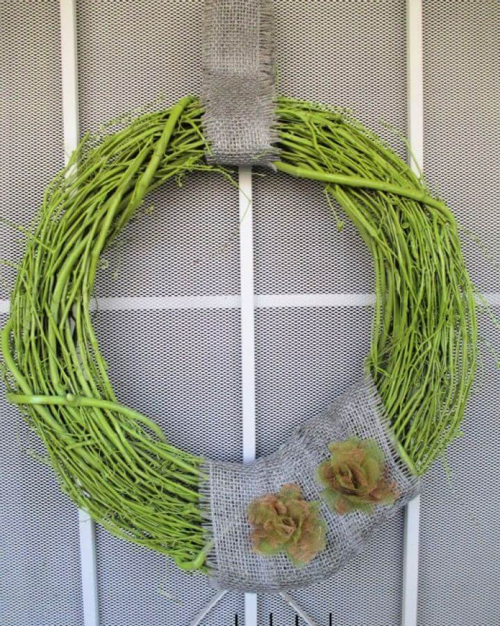Create A Painted Grapevine Door Wreath Tutorial