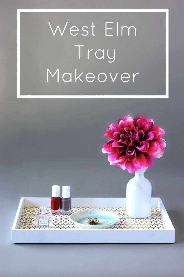 Create A West Elm Vanity Tray Makeover