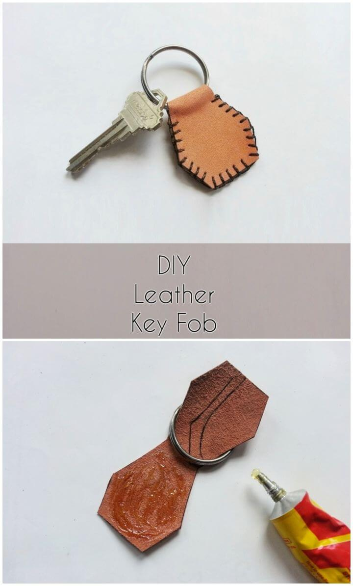 Create Simple DIY Leather Key For Him