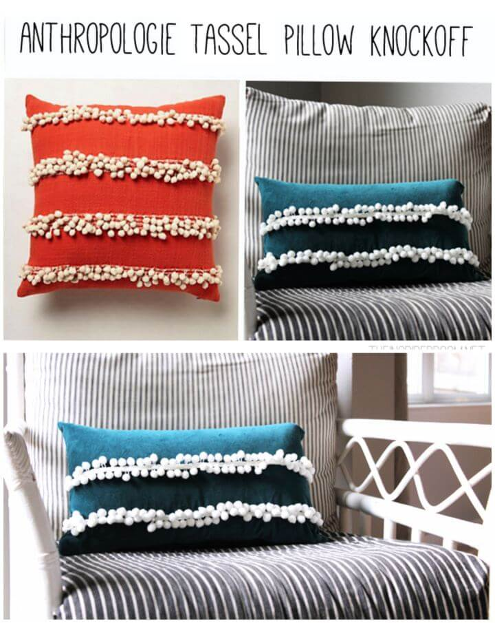 Create Your Own Anthropologie Pillow Knockoff