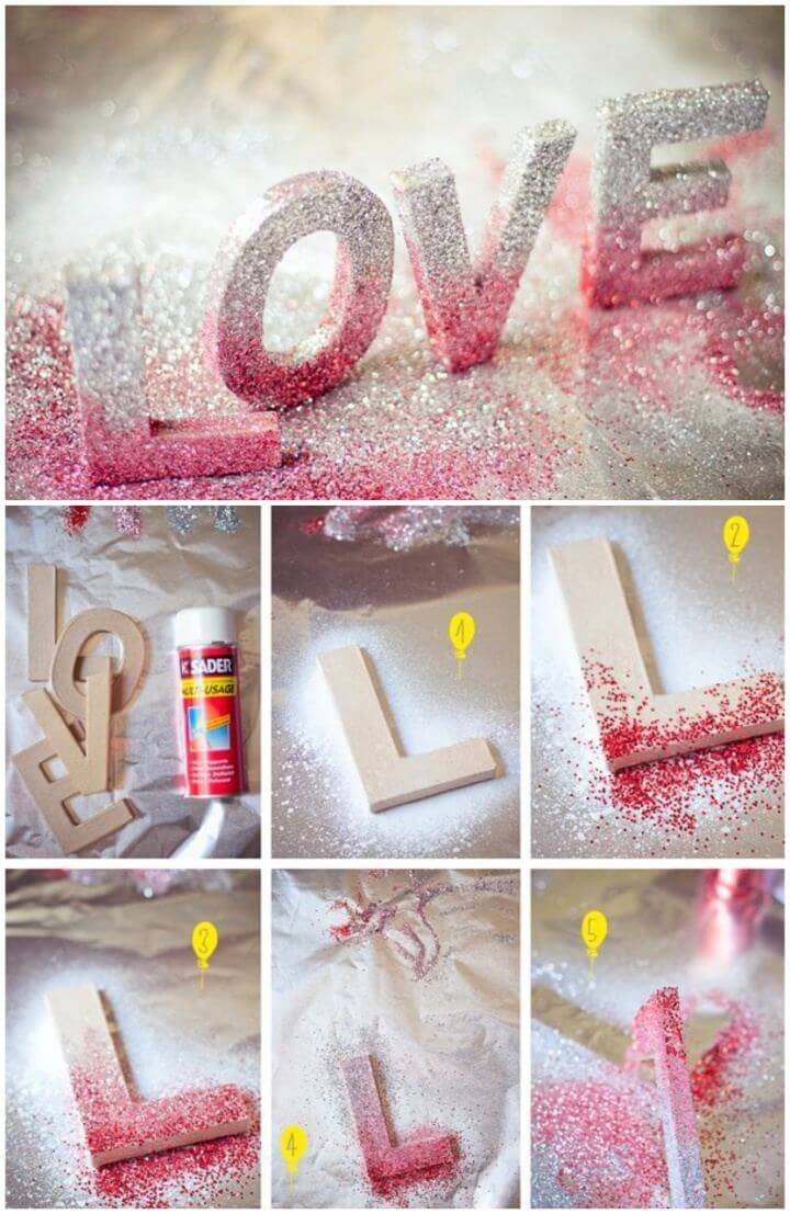 Create Your Own Glitter Love letters