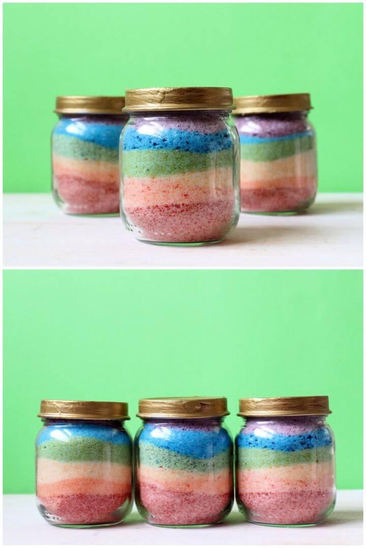 Create Your Own Gold Rainbow Salt Art