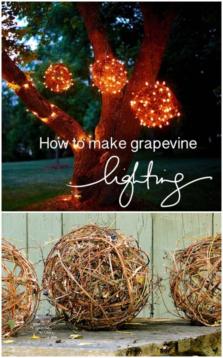 Create Your Own Grapevine Outdoor Lighting Balls