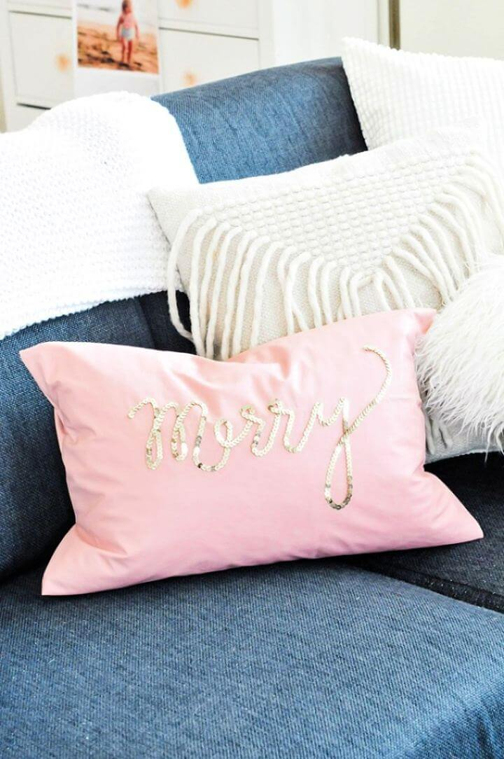 Create Your Own Holiday Sequin Pillows