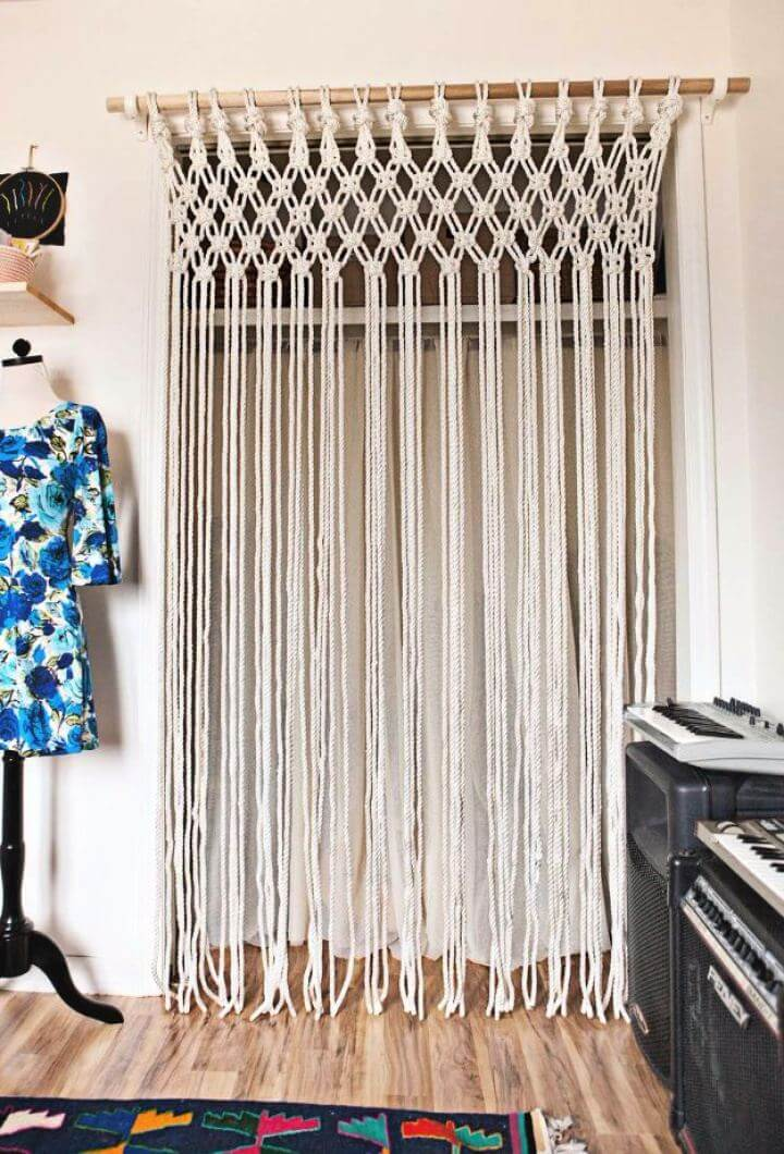 Create Your Own Macrame Curtain