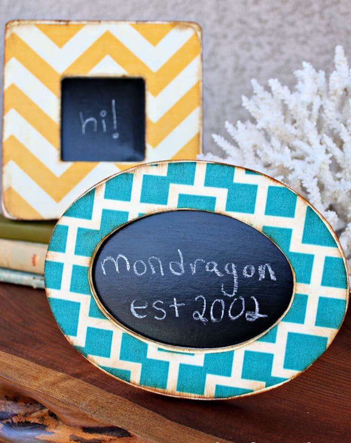 Create Your Own Mod Podge Fabric Picture Frames