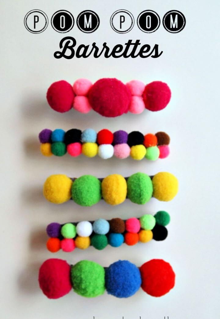 Create Your Own Pom Pom Barrettes Gift