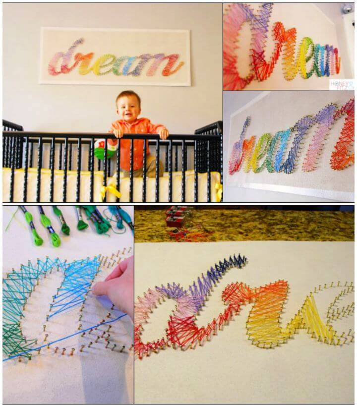 Create Your Own String Art For Kids Tutorial
