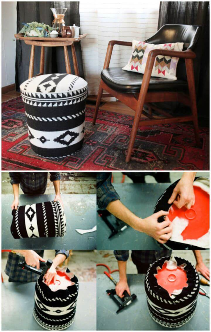 Create Your Own Utility Bucket Ottoman For Room