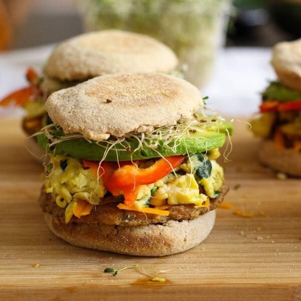 Freezer-friendly, Turkey Sausage Breakfast Sandwiches