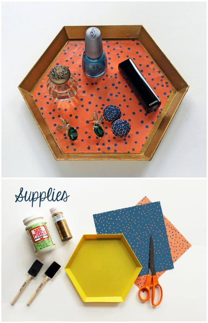 Cute And Simple DIY Vanity Trays