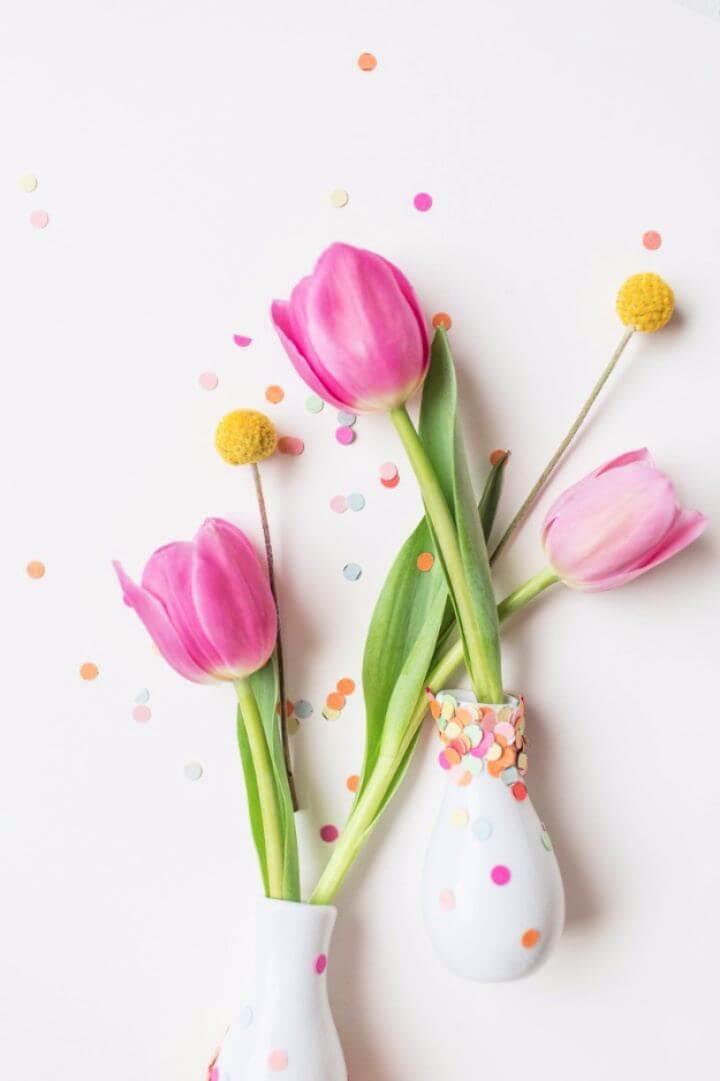 Cute DIY Confetti Vases Gift