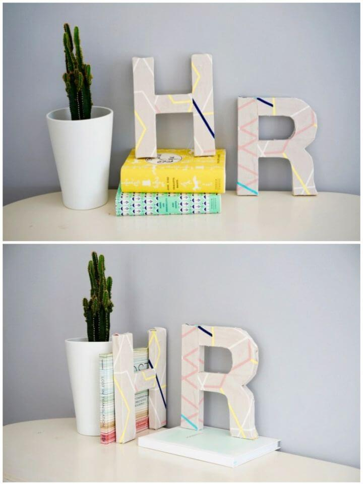 Cute DIY Fabric Covered Letter Wall Art