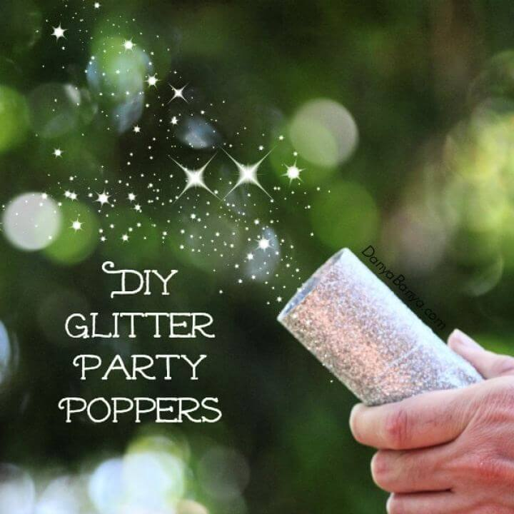 Cute DIY Glitter Party Poppers