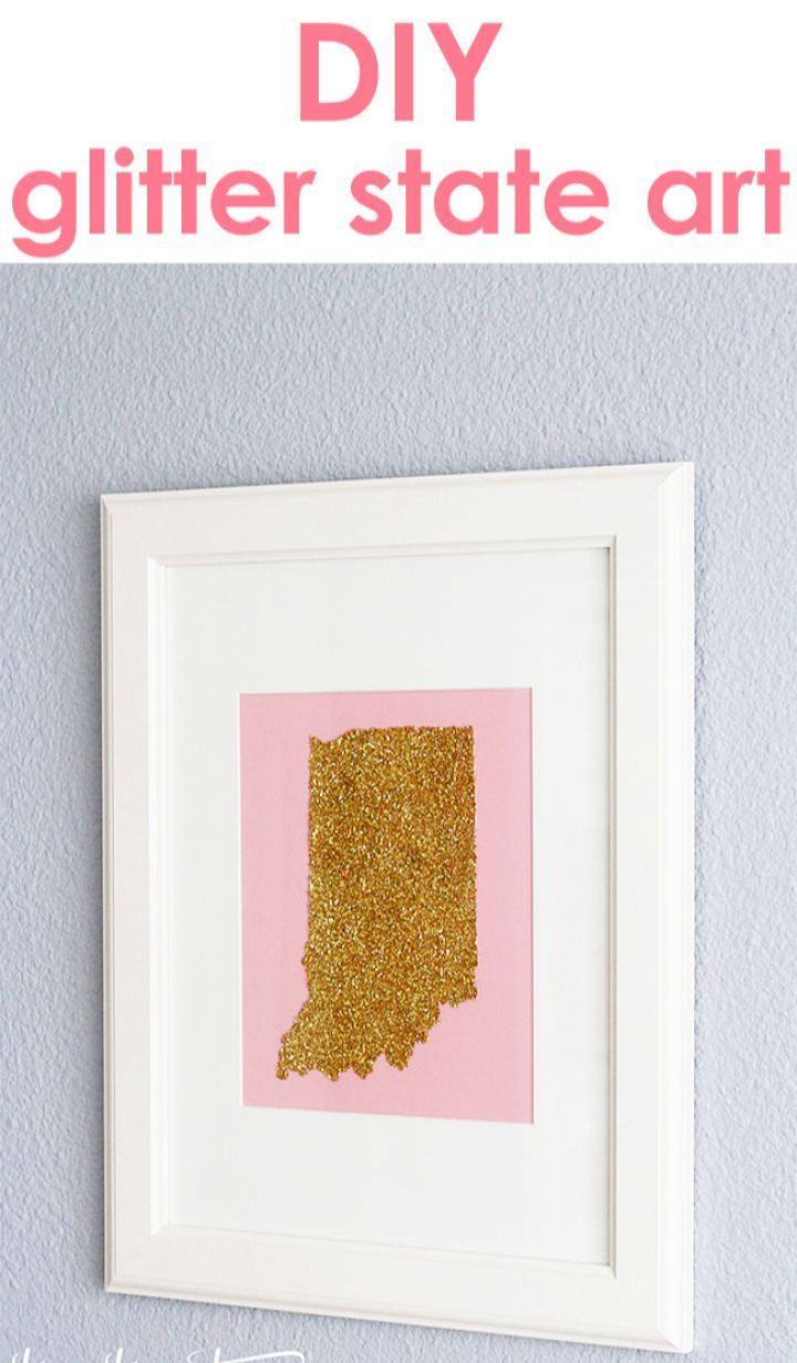 Cute DIY Glitter State Art
