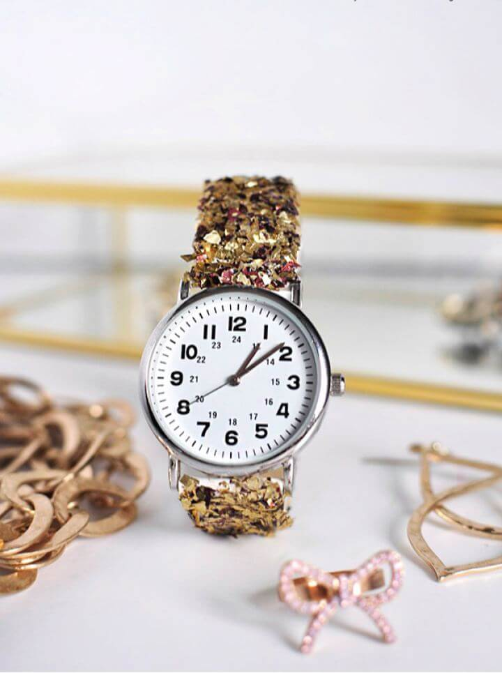 Cute DIY Glitter Watch Tutorial