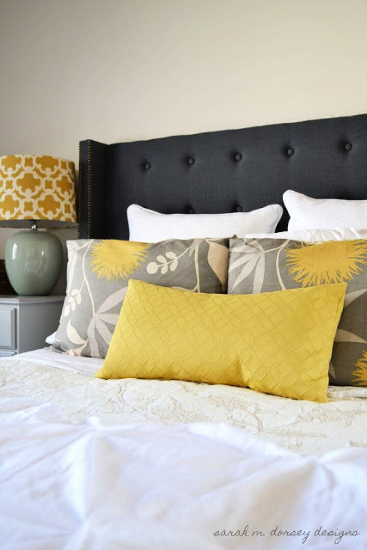 Cute DIY Headboard Complete