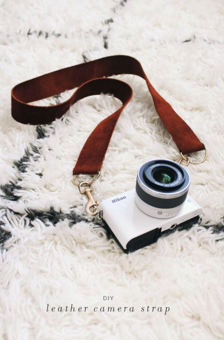 Cute DIY Leather Camera Strap Gift For Him