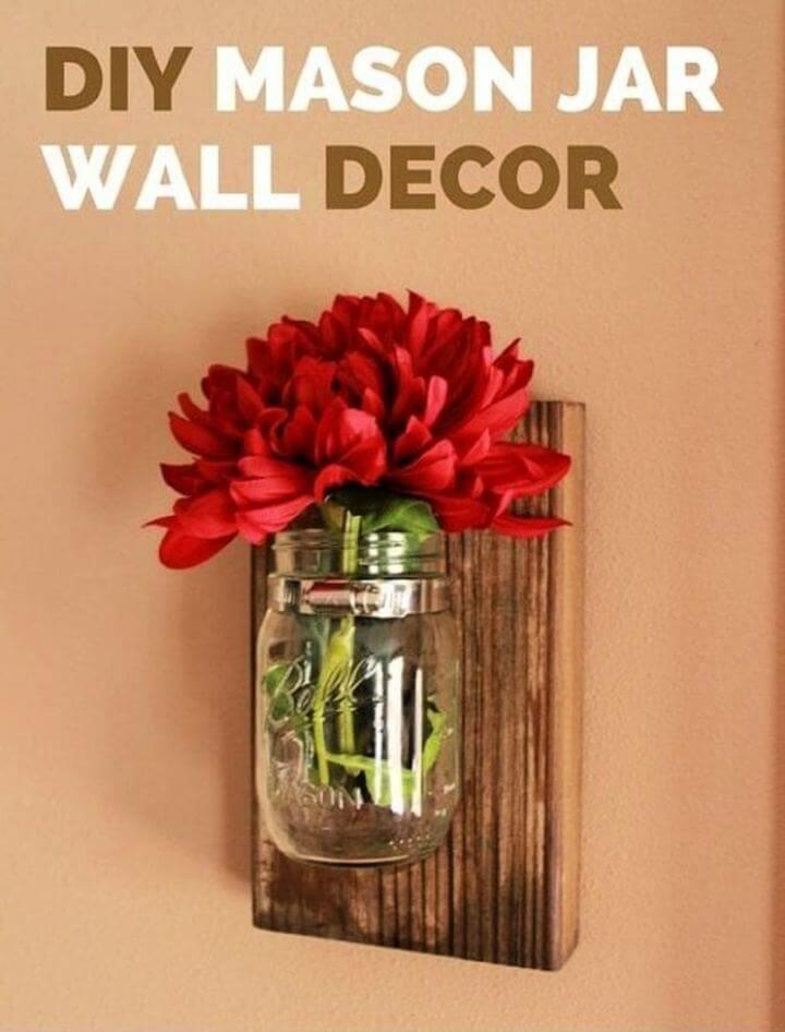 Cute DIY Mason Jar Wall Hanging Decor