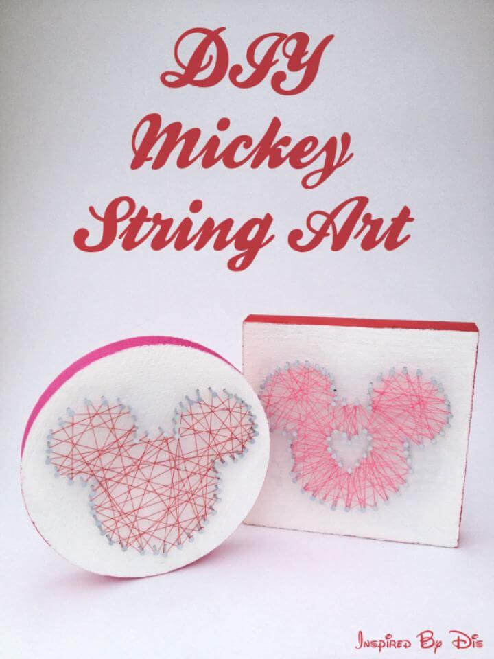 Cute DIY Mickey String Art