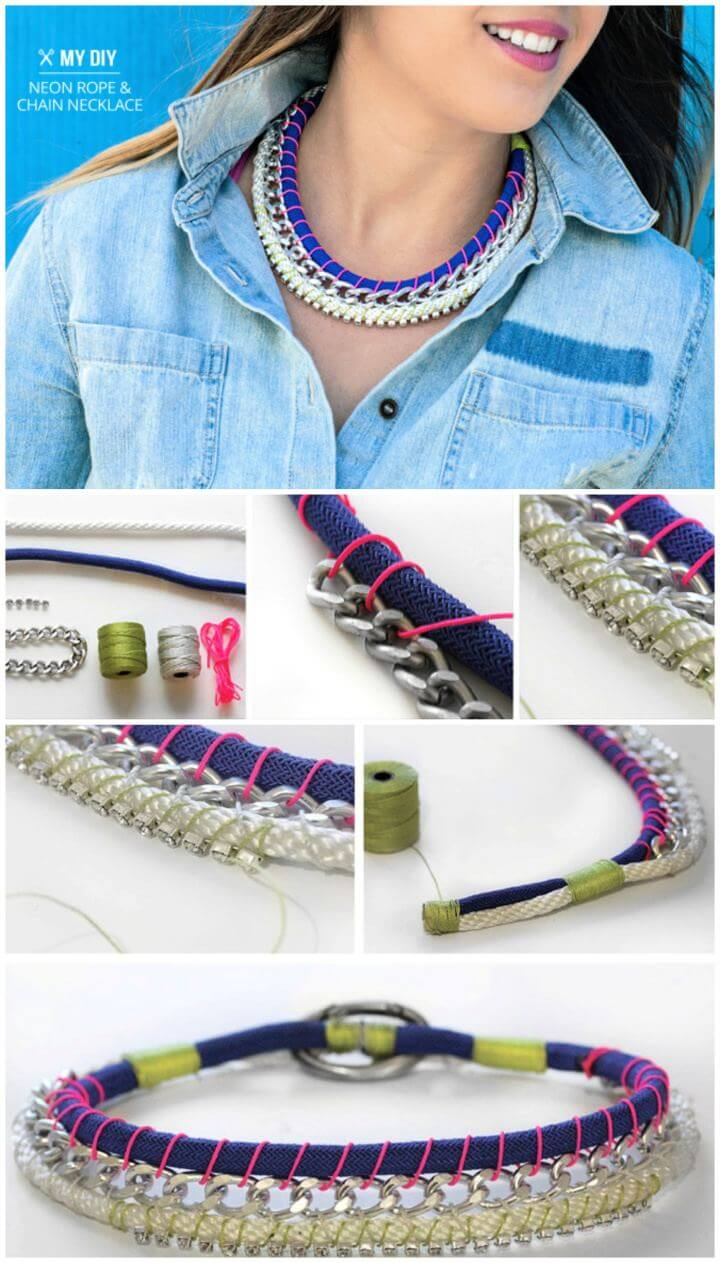 diy necklace ideas, diy jewelry ideas, how to make a simple necklace,