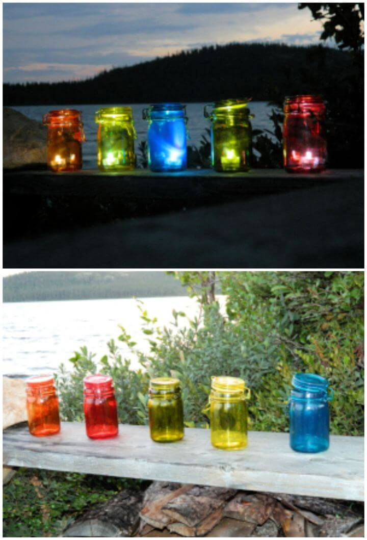 Cute DIY Outdoor Tea Light Lanterns