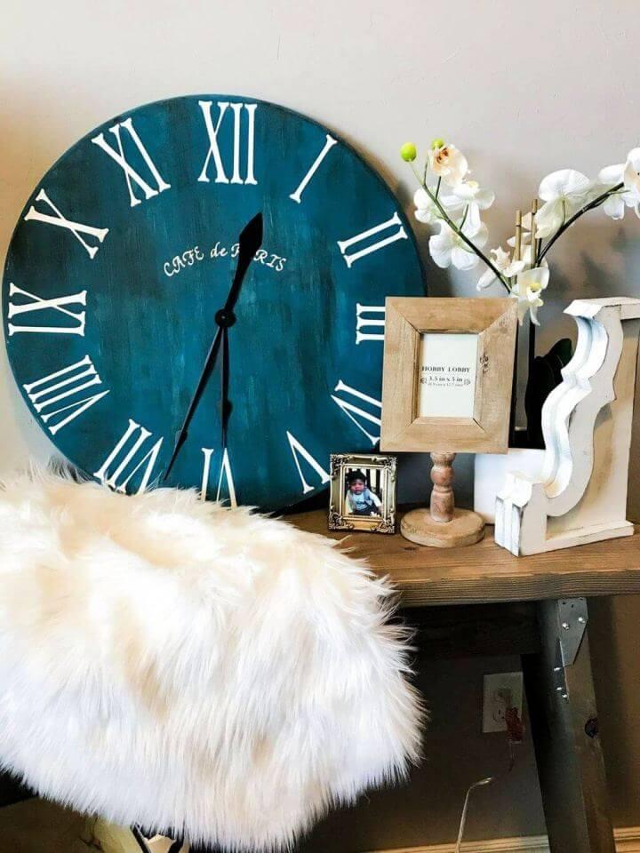 Cute DIY Roman Numeral Clock Tutorial