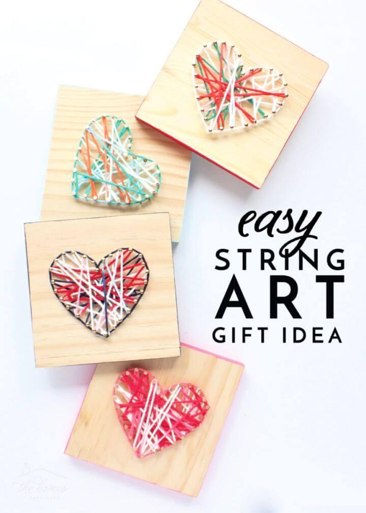 Cute DIY String Art Gift Idea