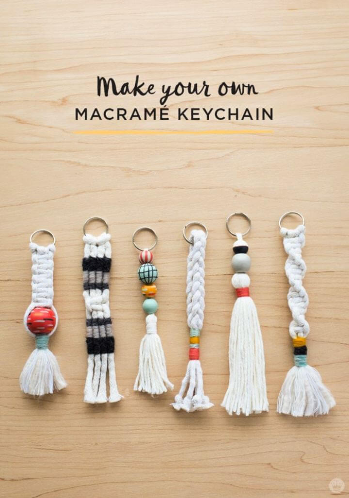 Cute DIY Tassel And Macramé Keychains