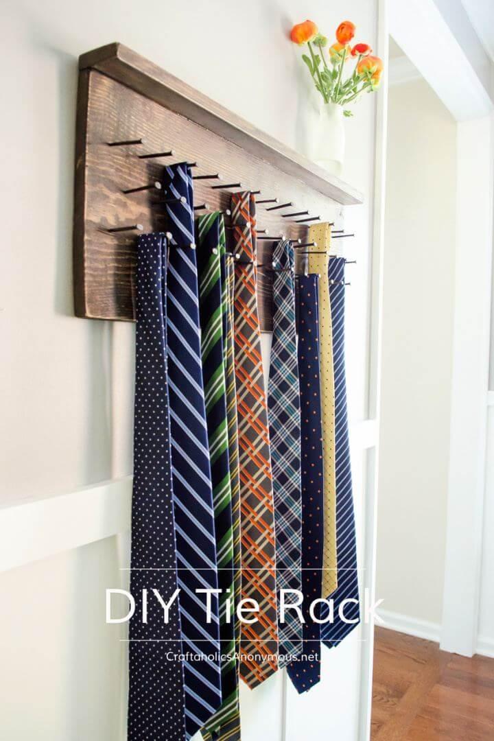 Cute DIY Tie Rack Gift For Him Tutorial