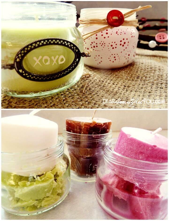 DIY Baby Food Jars Into Candles