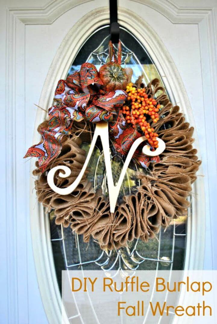 DIY Burlap Fall Door Wreath for Under 5