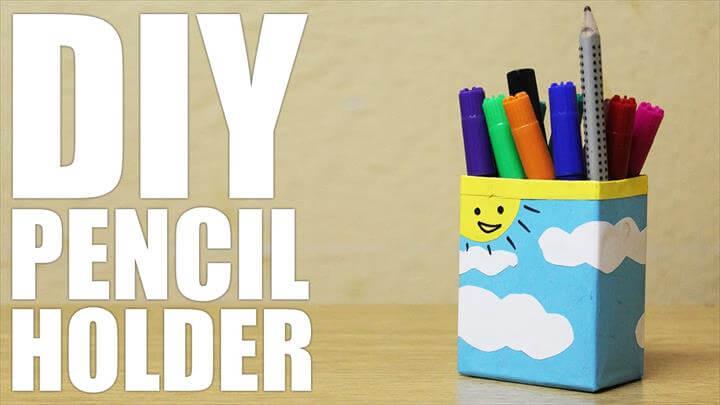 DIY Cute Pencil Holder