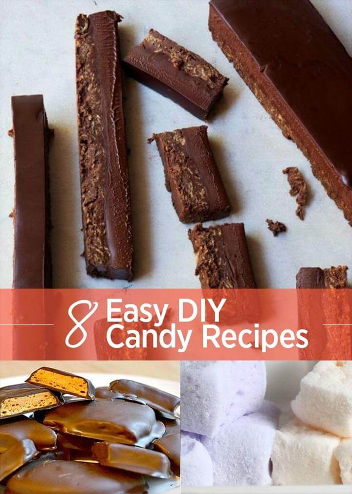 Easy DIY Candy Recipes. From KitKats to Marshmallows, easy candy recipes you can make at home.