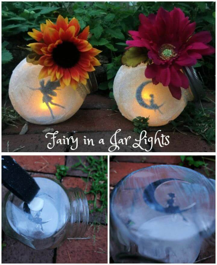 DIY Fairy in a Jar Outdoor Lights
