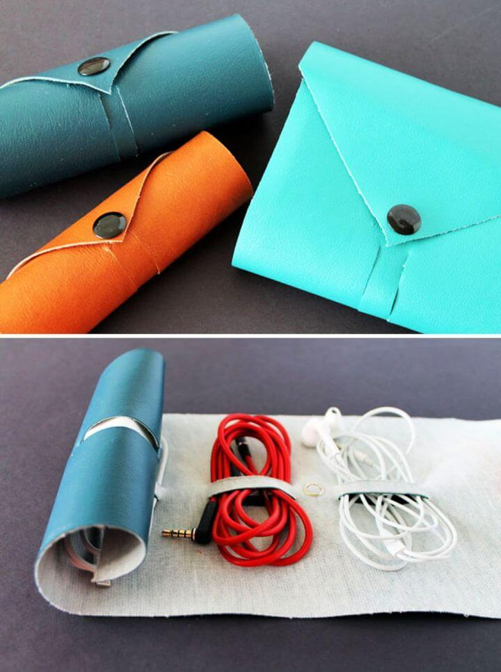DIY Fashionable Way to Roll Up Your Cords Gift For Him