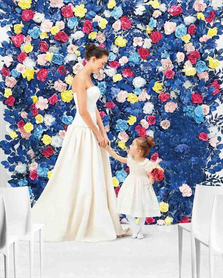 DIY Faux Flower Wall for Your Wedding