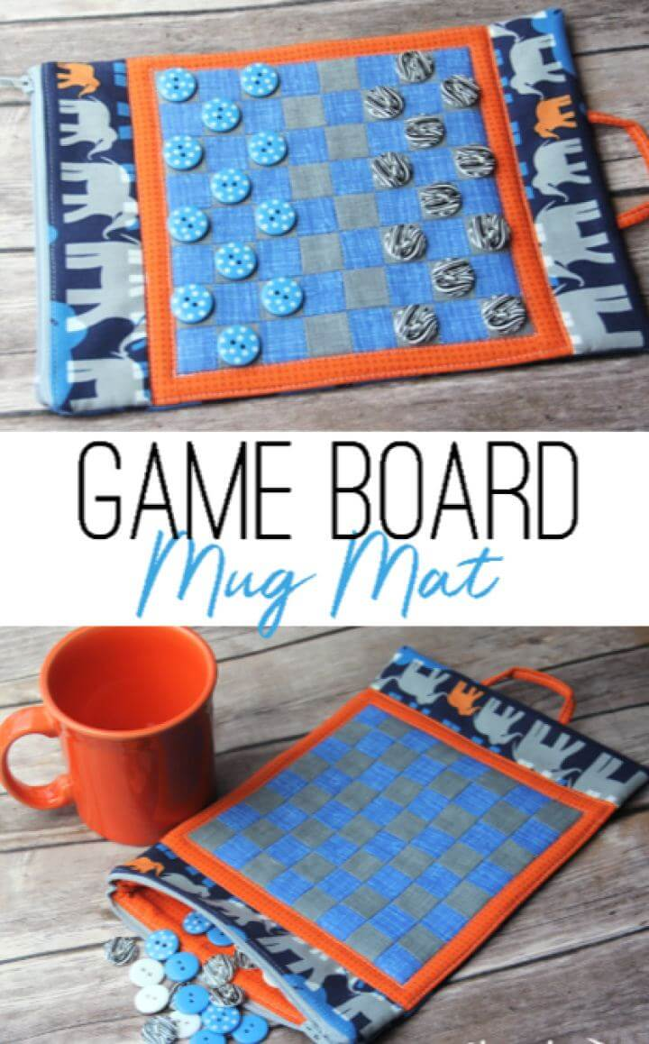 DIY Game Board Mug Mat For Him