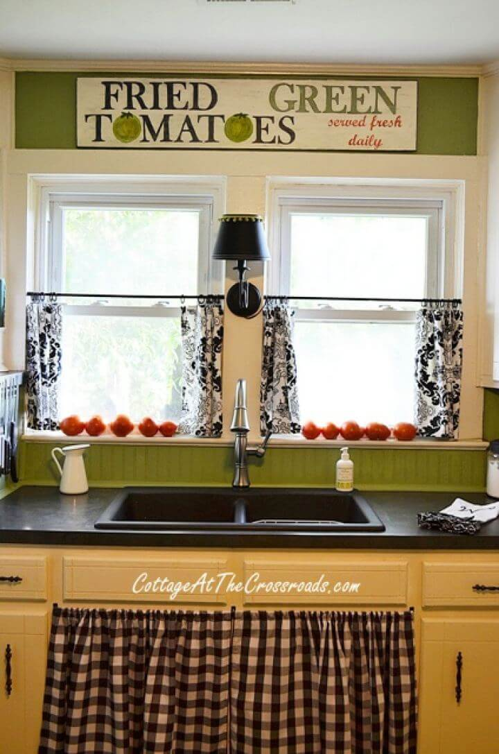 DIY Handmade Fried Green Tomatoes Kitchen Sign, handmade sign, diy, crafts, home projects,