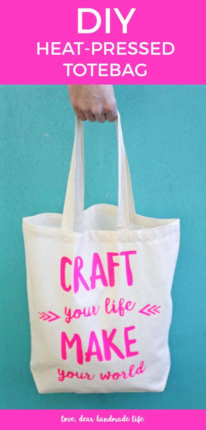 DIY heat press tote bag from Dear Handmade Life