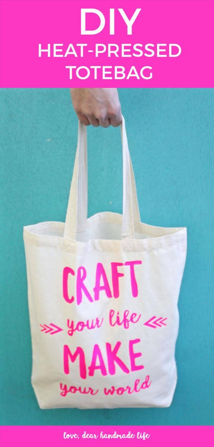 DIY heat press tote bag from Dear Handmade Life