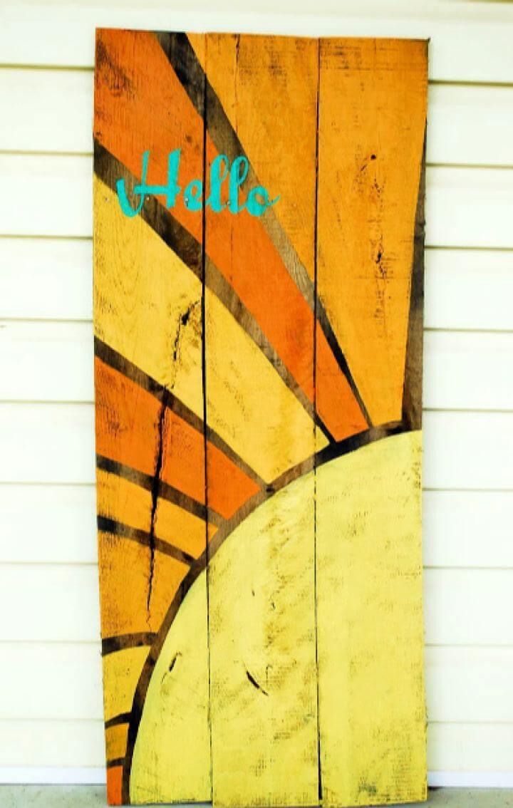 DIY Hello Sunshine Wall Sign