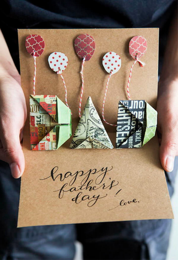 DIY How To Make Origami Pop up Father's Day Card