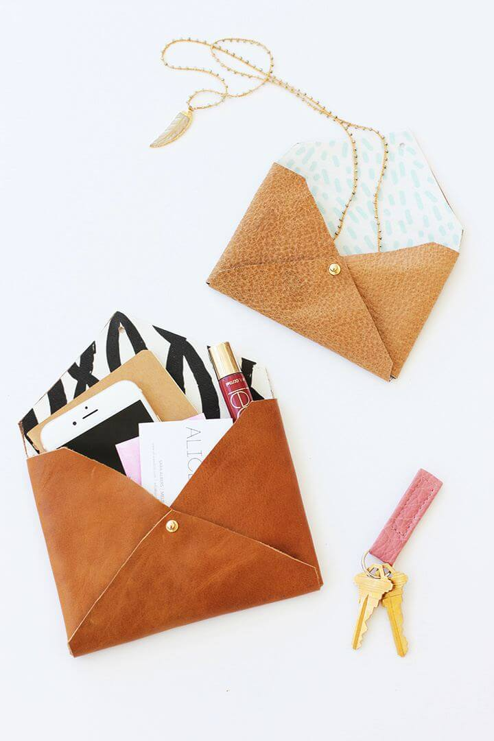 DIY Leather Envelope Clutch Gift Tutorial