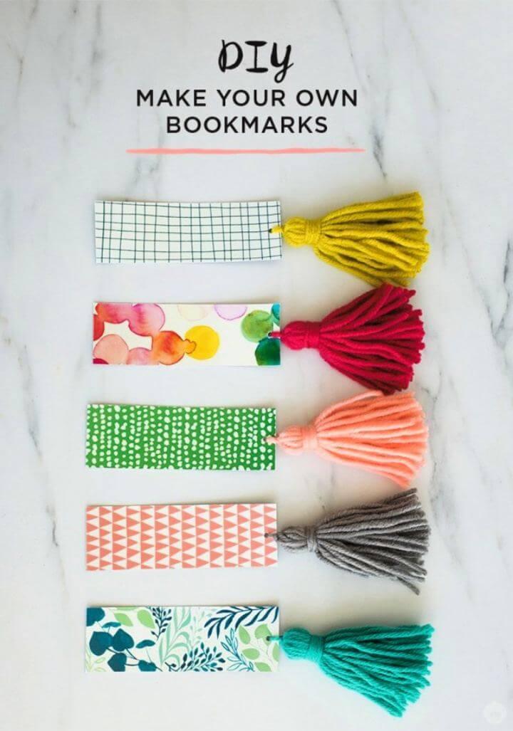DIY Make Your Own Tassel Bookmark