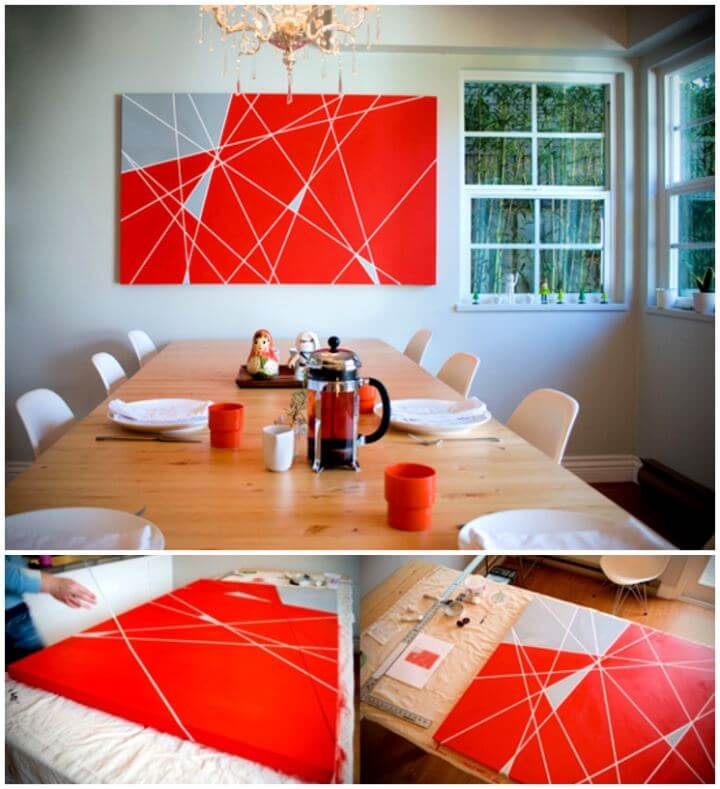 DIY Modern Geometrical Triangles Wall Art