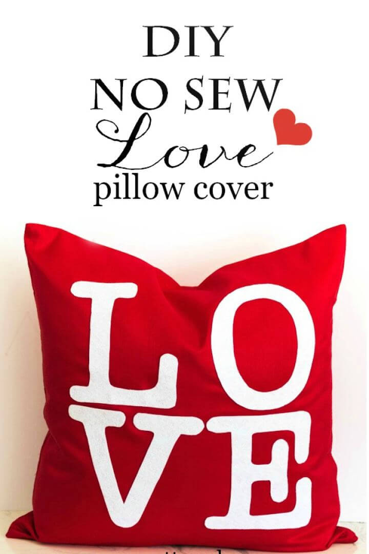 DIY No Sew Love Pillow Cover