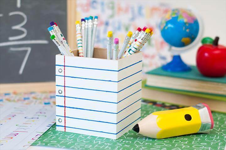 DIY Pencil Holder Tutorial