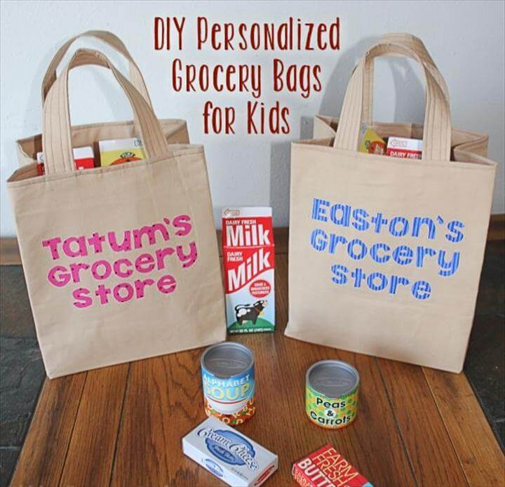 Personalized Grocery Bags for Play